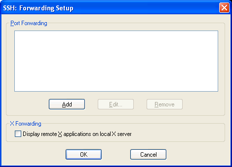 ssh forwarding setup